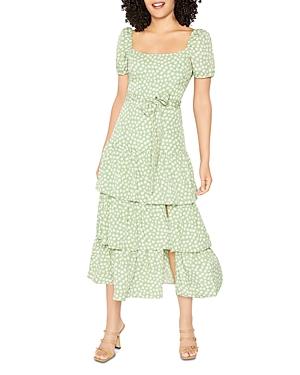 Lottie Puff Sleeve Midi Dress