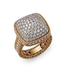 Roberto Coin - 18K Yellow Gold Roman Barocco Diamond Pavé Statement Ring