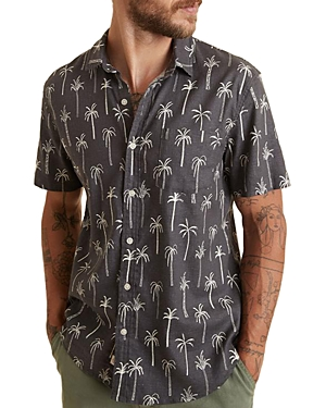 Palm Print Button Down Shirt