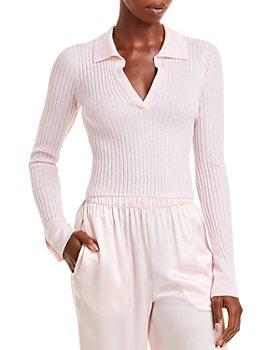SABLYN - V Neck Ribbed Cashmere Sweater