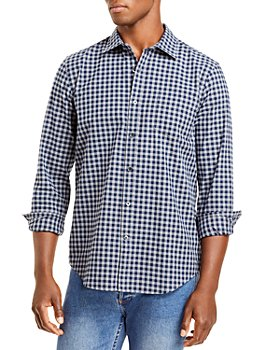 The Men's Store at Bloomingdale's - Cotton Blend Flannel Check Button Down Shirt - 100% Exclusive