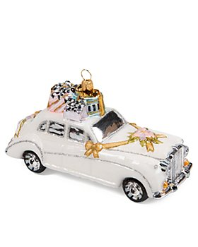 Mackenzie-Childs - Just Married Glass Ornament