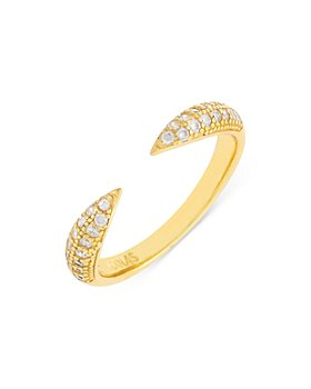 Adinas Jewels - Pave Open Claw Ring