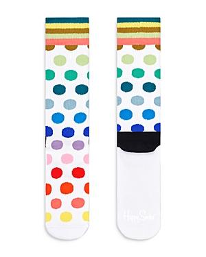 Multi Dot Crew Socks