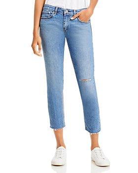 rag & bone - Dre Slim Boyfriend Jeans in Pismo With Holes