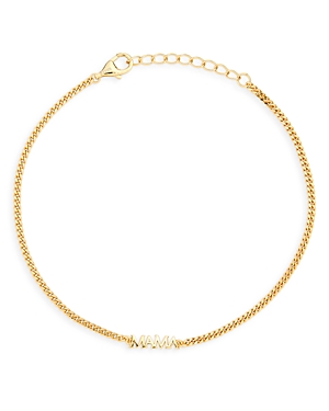 Mama Curb Chain Bracelet in 14K Gold Plated Sterling Silver