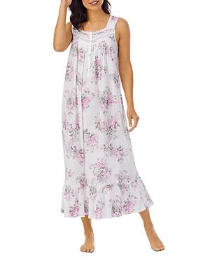 Floral Print Cotton Ballet Nightgown