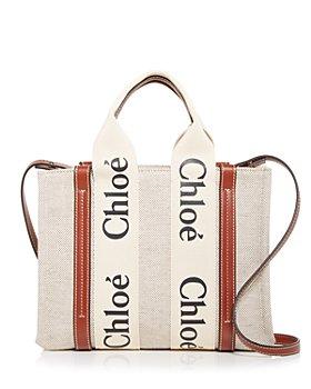 Chloé - Woody Small Canvas Tote Crossbody Bag