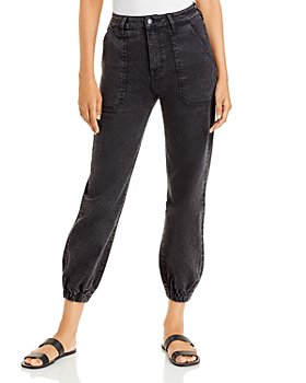 AQUA - Jackie Jogger Jeans in Black - 100% Exclusive