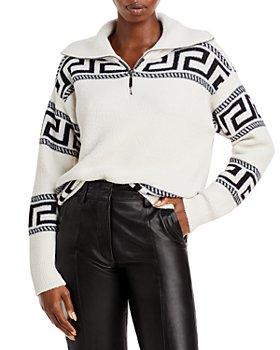 AQUA - Printed Fleece Quarter Zip Pullover - 100% Exclusive