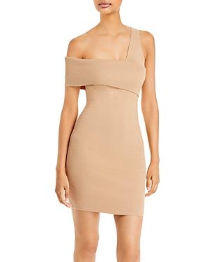 Sylvie One Shoulder Ribbed Dress