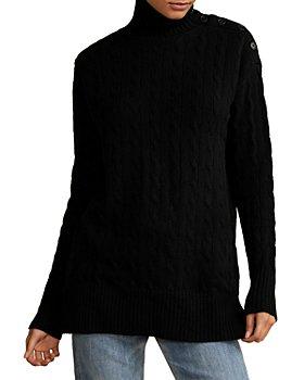 Ralph Lauren - Button Placket Wool & Cashmere Turtleneck