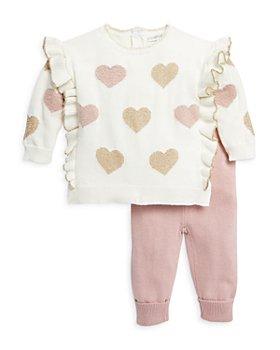 Miniclasix - Girls' Ruffled Sweater Top & Sweater Pants Set - Baby