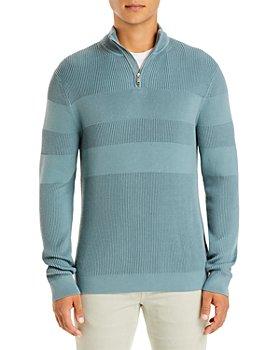 Theory - Walton Quarter Zip Mixed Rib Sweater - 100% Exclusive