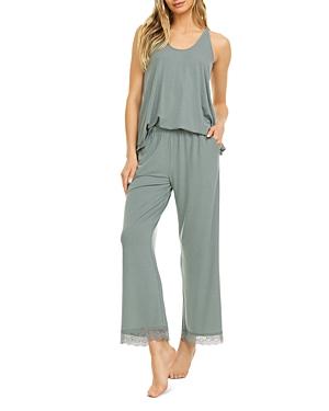 Stephanie Lace Trim Pajama Set