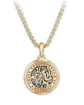David Yurman - St. Christopher Amulet in 18K Gold