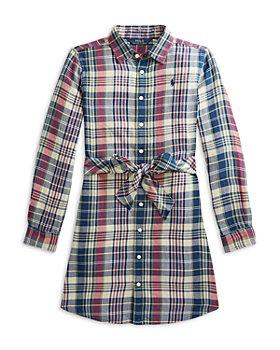 Ralph Lauren - Girls' Cotton Plaid Shirtdress - Little Kid, Big Kid