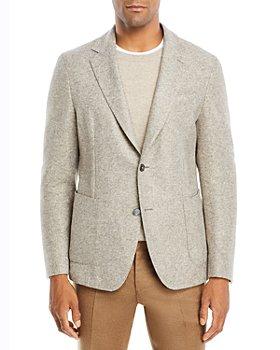 BOSS - Hanry Slim Fit Oatmeal Textured Mélange Sport Coat