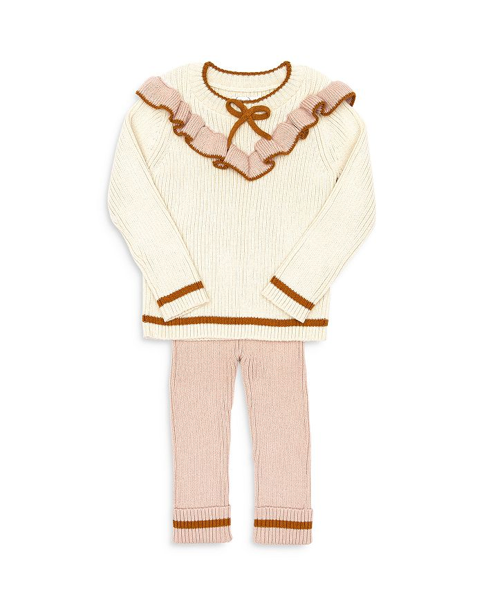 Tun Tun - Girls' Mia Ruffle Rib Sweater & Leggings Set - Baby