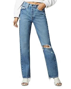 1961 Emilie Distressed Straight Leg Jeans in Rigid Light