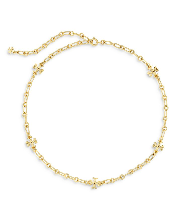 """Tory Burch - Roxanne Chain Delicate Necklace, 14"""""""