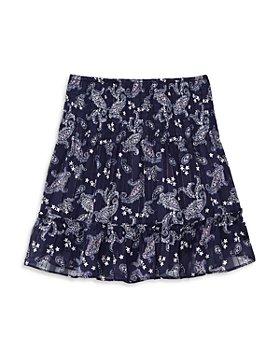 AQUA - Girls' Metallic Paisley Skirt, Big Kid - 100% Exclusive