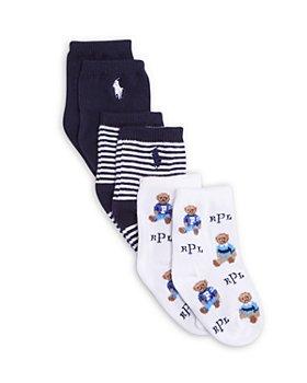 Ralph Lauren - Unisex Icon Crew Socks, 3 Pack - Baby
