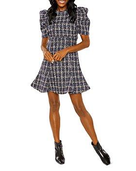 LIKELY - Alia Tweed Puff Sleeve Mini Dress