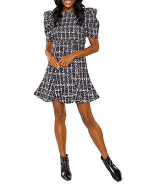 Alia Tweed Puff Sleeve Mini Dress