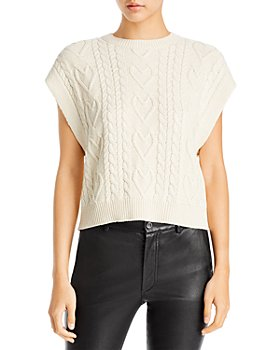 AQUA - Cable Knit Extended Shoulder Sweater Vest - 100% Exclusive