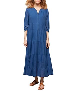 Gerard Darel Seona Tiered Maxi Shirt Dress