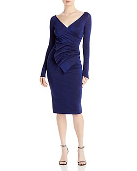 Chiara Boni La Petite Robe - Kaya Sugar Metallic Peplum Dress - 100% Exclusive