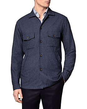 Eton - Cotton, Wool & Cashmere Brushed Solid Slim Fit Shirt Jacket