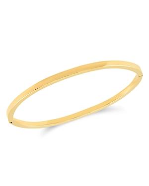 14K Yellow Gold Polished Bangle Bracelet