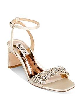 Badgley Mischka - Women's Marsha Embellished Ankle Strap Dress Sandals