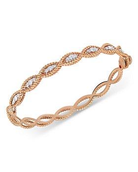 Roberto Coin - 18K Rose Gold Barocco Diamond Bangle Bracelet