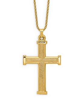 "Bloomingdale's - Men's Latin Cross Pendant Necklace in 14K Yellow Gold, 20"" - 100% Exclusive"