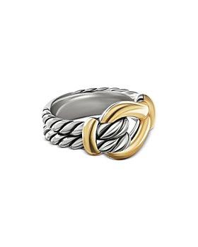 David Yurman - 18K Yellow Gold & Sterling Silver Thoroughbred Loop Ring