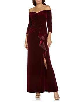 Adrianna Papell - Off-the-Shoulder Velvet Gown