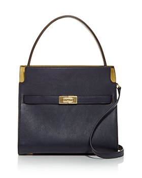 Tory Burch - Lee Radziwell Small Leather & Suede Satchel