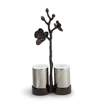 "Michael Aram - ""Black Orchid"" Salt & Pepper Shakers"