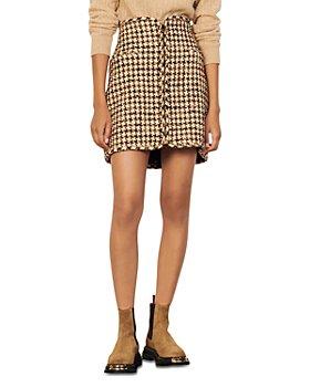 Sandro - Gena Houndstooth Mini Skirt