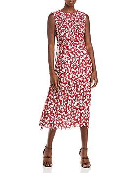 Jason Wu - Abstract Floral Tassel Midi Dress