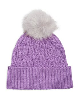 Echo - Recycled Cable Knit Pom Pom Hat