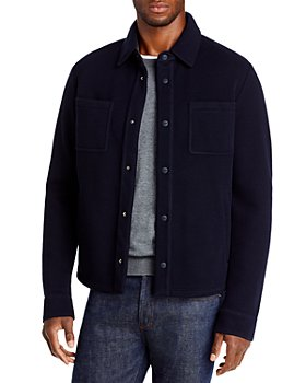 Herno - Heavy Knit Shirt Jacket with Contrast Back