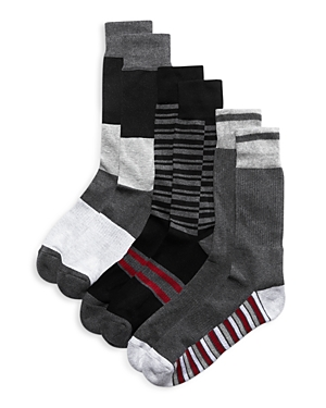The Men's Store at Bloomingdale's Striped Crew Socks, Pack of 3 - 100% Exclusive