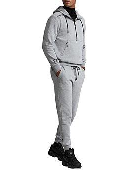 Polo Ralph Lauren - Fleece Half Zip Hoodie & Cotton Blend Fleece Regular Fit Jogger Pants