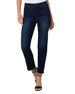 High Waist Straight Leg Jeans in Oak Branch