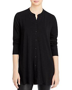 Eileen Fisher - Mandarin Collar Jersey Top