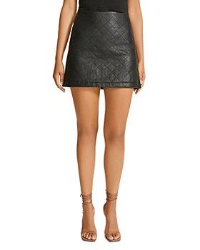 BB DAKOTA - We Quilt This City Faux Leather Mini Skirt